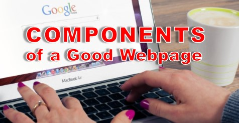components of a good web site