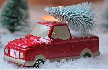 Christmas sales truck