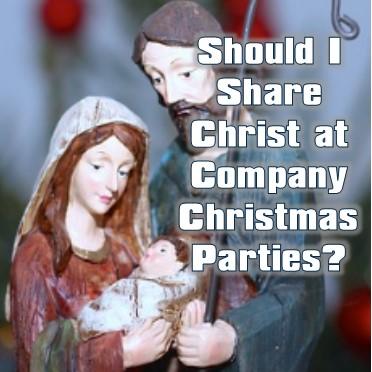 sharing Christ at Christmas parties