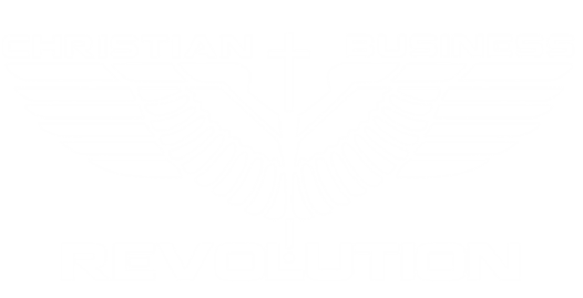 Christian business revolution logo white